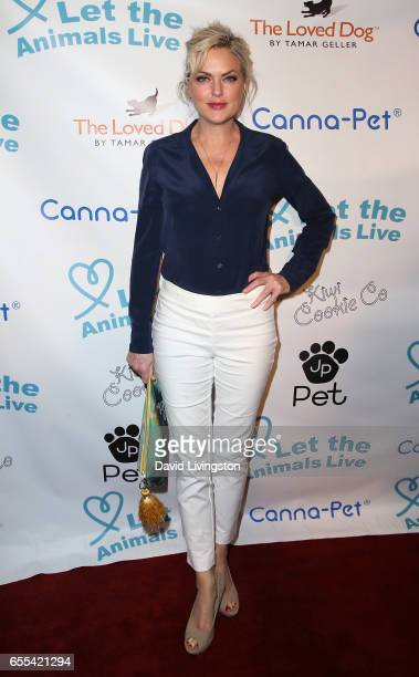 Actress Elaine Hendrix attends the Let The Animals Live Gala at the Olympic Collection Banquet Conference Center on March 19 2017 in Los Angeles...