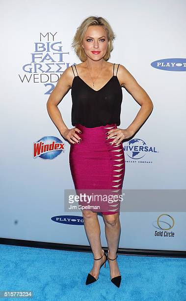 Actress Elaine Hendrix attends the My Big Fat Greek Wedding 2 New York premiere at AMC Loews Lincoln Square 13 theater on March 15 2016 in New York...