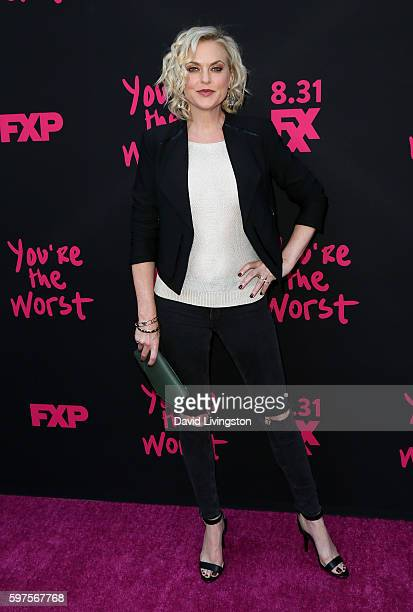 "Actress Elaine Hendrix attends the premiere of FXX's ""You're the Worst"" Season 3 on August 28, 2016 in Los Angeles, California."