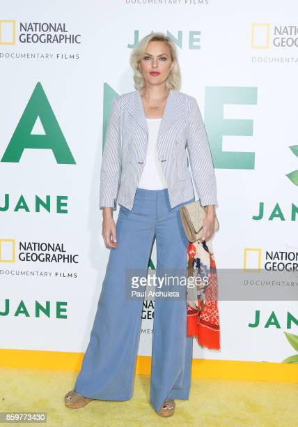 Actress Elaine Hendrix attends the premiere of National Geographic documentary films' Jane at the Hollywood Bowl on October 9 2017 in Hollywood...