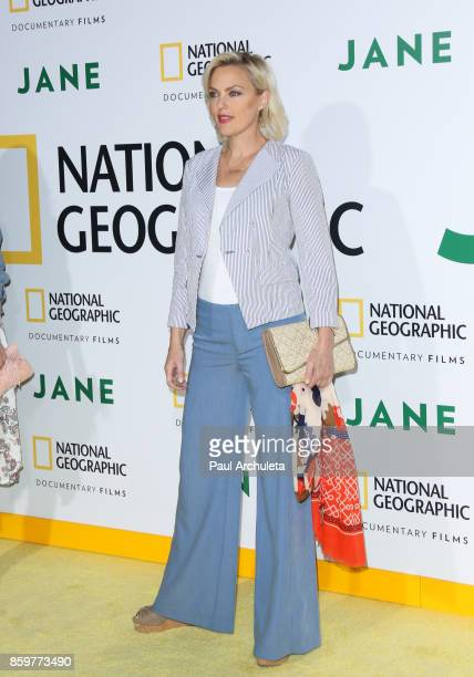 Actress Elaine Hendrix attends the premiere of National Geographic documentary films' 'Jane' at the Hollywood Bowl on October 9 2017 in Hollywood...