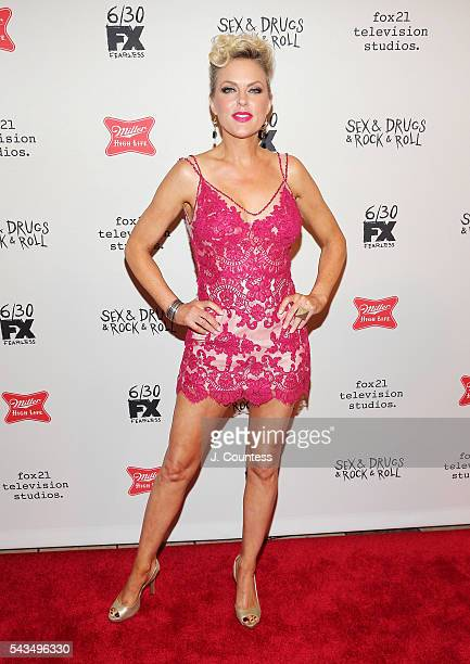Actress Elaine Hendrix attends the SexDrugsRockRoll season 2 premiere at AMC Loews 34th Street 14 theater on June 28 2016 in New York City