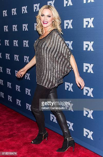 Actress Elaine Hendrix of SexDrugsRockRoll attends FX Networks Upfront Screening Of 'The People v OJ Simpson American Crime Story' at AMC Empire 25...