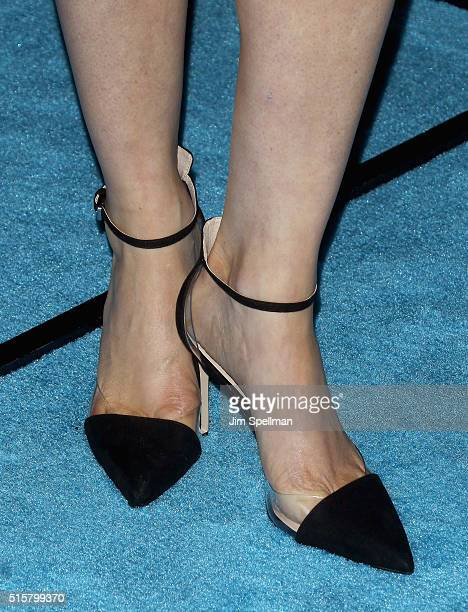 Actress Elaine Hendrix shoe detail attends the My Big Fat Greek Wedding 2 New York premiere at AMC Loews Lincoln Square 13 theater on March 15 2016...