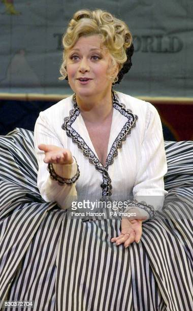 Actress Elaine Paige on stage during a rehearsal for her role in 'The King And I' which is currently previewing at the London Palladium Argyll Street...