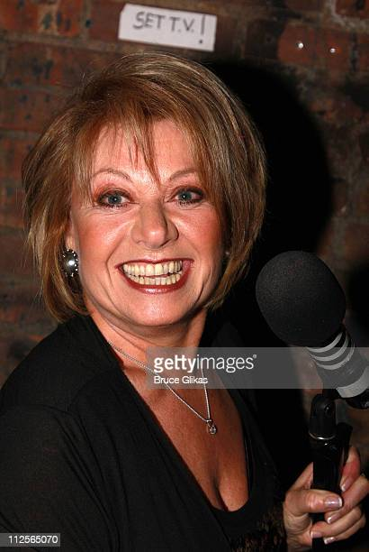Actress Elaine Paige poses backstage at 'Forbidden Broadway' at The 47th Street Theater on December 17 2007 in New York City