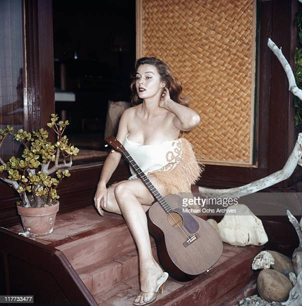 Actress Elaine Stewart poses for a portrait on June 18 1957 in Los Angeles California