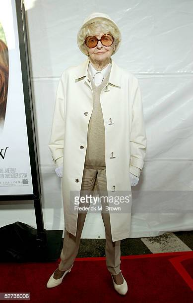 Actress Elaine Stritch arrives at New Line Cinema's Premiere of Monster In Law at the Mann National Theatre on April 29 2005 in Westwood California