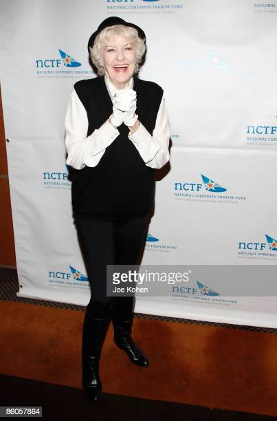 Actress Elaine Stritch attends the 2009 National Corporate Theatre Fund Chairman's awards gala at Cipriani's Pegasus on April 20 2009 in New York City