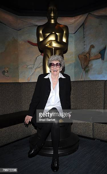 Actress Elaine Stritch attends the Academy Of Motion Picture Arts Sciences official Oscar Celebration at the Carlyle Hotel on February 24 2008 in New...