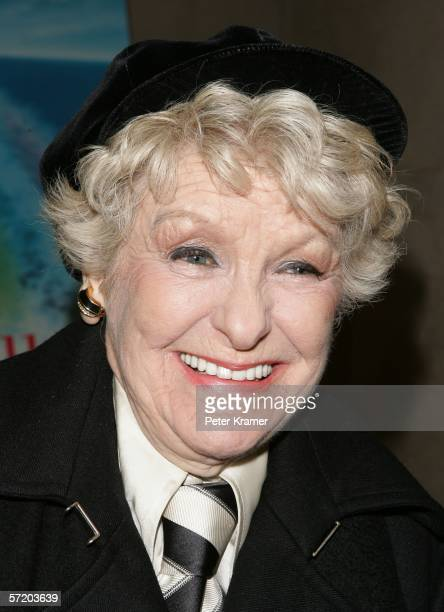 Actress Elaine Stritch attends the HBO premiere of All Aboard Rosie's Family Cruise at the HBO theater on March 28 2006 in New York City
