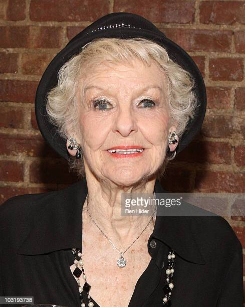 Actress Elaine Stritch attends the opening night after party for the new cast of A Little Night Music at Angus McIndoe on August 1 2010 in New York...