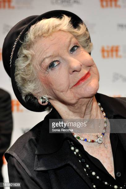Actress Elaine Stritch attends the 'Show Stopper The Theatrical Life Of The Garth Drabinsky' Premiere during the 2012 Toronto International Film...