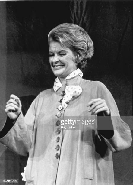 Actress Elaine Stritch in a scene from the stage play I Married An Angel