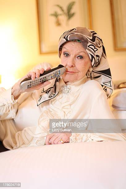 Actress Elaine Stritch poses at the Carlyle hotel on October 15 2010 in New York City New York