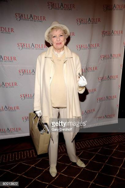 Actress Elaine Stritch recipient of The Stella Adler Award attends the 2009 Stella by Starlight Gala at a Private Residence on October 19 2009 in New...