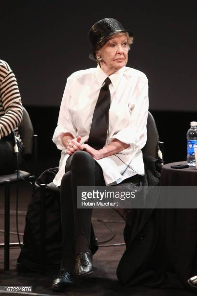 Actress Elaine Stritch speaks onstage at the Tribeca Talks After the Movie 'Elaine Stritch Shoot Me' during the 2013 Tribeca Film Festival on April...