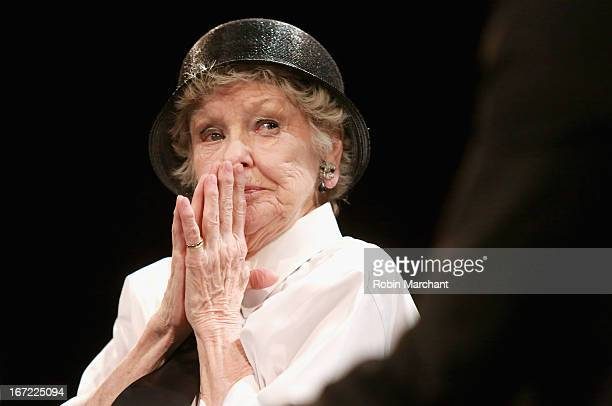 Actress Elaine Stritch speaks onstage at the Tribeca Talks After the Movie Elaine Stritch Shoot Me during the 2013 Tribeca Film Festival on April 22...