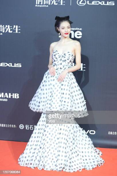 Actress Elane Zhong Chuxi arrives at the red carpet of 2019 Esquire China MAHB Award on December 18 2019 in Beijing China