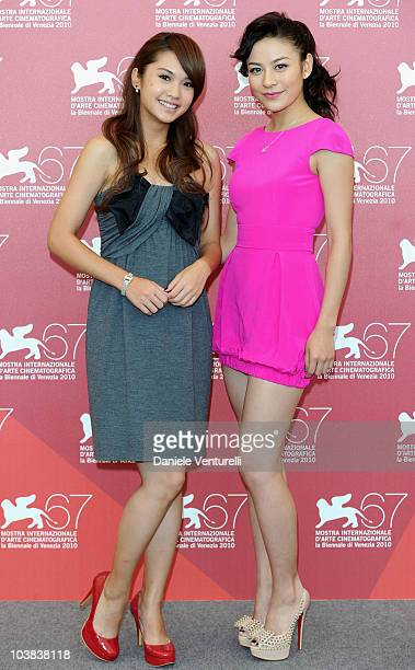 Actress Elanne Kwong and actress Rainie Yang attend the The Child's Eye 3D photocall at the Palazzo del Casino during the 67th Venice International...