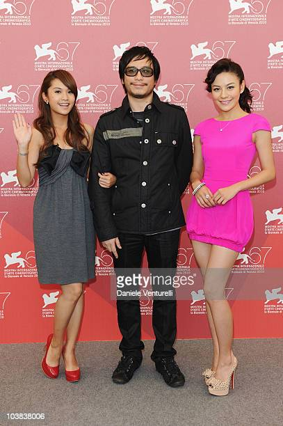 Actress Elanne Kwong director Oxide Pang and actress Rainie Yang attend the The Child's Eye 3D photocall at the Palazzo del Casino during the 67th...