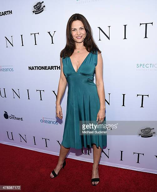 Actress Ele Keats attends the world premiere of UNITY at the DGA Theater on June 24 2015 in Los Angeles California