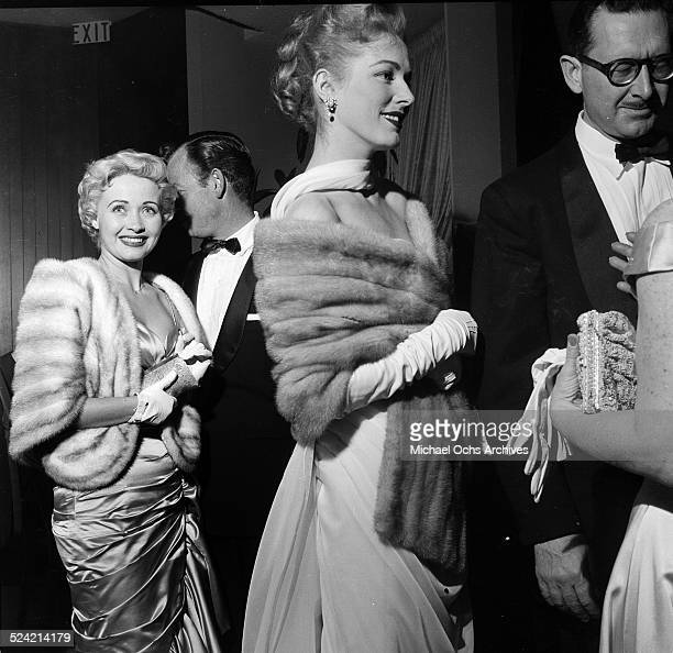Actress Eleanor Parker and husband Paul Clemens attend the Academy Awards in Los Angeles,CA.