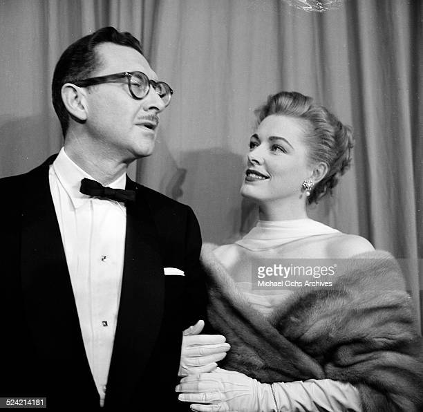 Actress Eleanor Parker and husband Paul Clemens attend the Academy Awards in Los AngelesCA