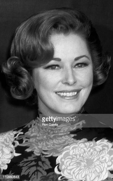 Actress Eleanor Parker attends 27th Annual Golden Globe Awards on February 20 1970 at the Ambassador Hotel in Los Angeles California