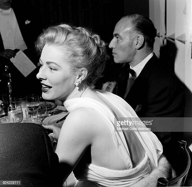 Actress Eleanor Parker attends the Academy Awards party in Los AngelesCA