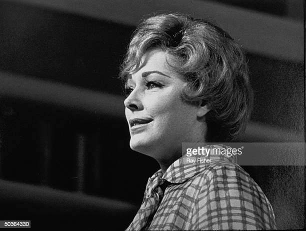 Actress Eleanor Parker in a scene from the stage play Forty Carats.