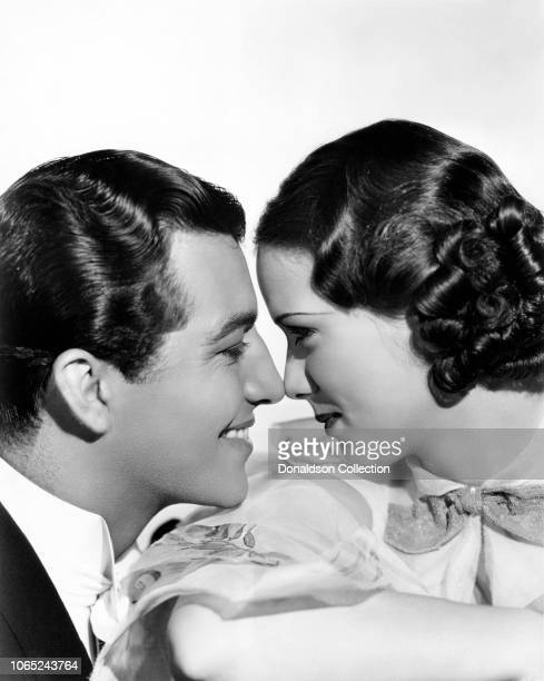 Actress Eleanor Powell and Robert Taylor in a scene from the movie Broadway Melody of 1936