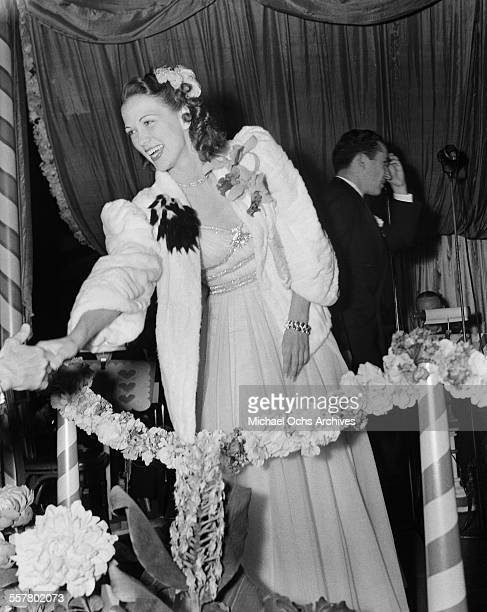 Actress Eleanor Powell greets fans during an event in Los Angeles California