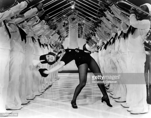Actress Eleanor Powell in a scene from the movie Born to Dance