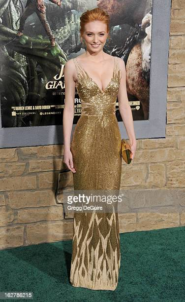 "Actress Eleanor Tomlinson arrives at the Los Angeles premiere of ""Jack The Giant Slayer"" at TCL Chinese Theatre on February 26, 2013 in Hollywood,..."