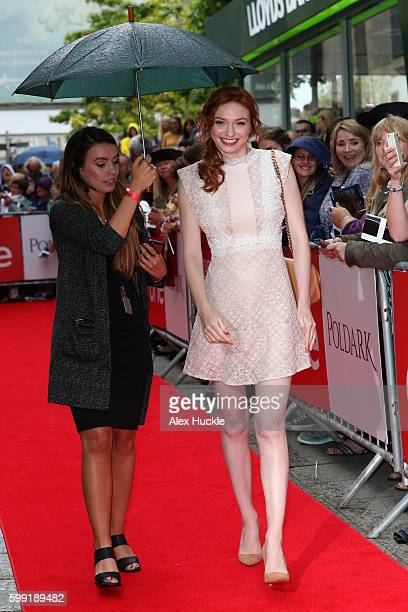 Actress Eleanor Tomlinson attends a preview screening for series two of BBC drama 'Poldark' at the White River Cinema on September 4 2016 in St...