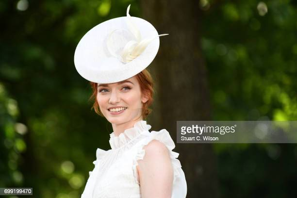 Actress Eleanor Tomlinson attends Royal Ascot 2017 at Ascot Racecourse on June 21 2017 in Ascot England
