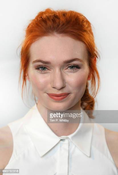 Actress Eleanor Tomlinson poses for a photo after speaking about her role in the television series 'Poldark' at the Build LDN event at AOL London on...