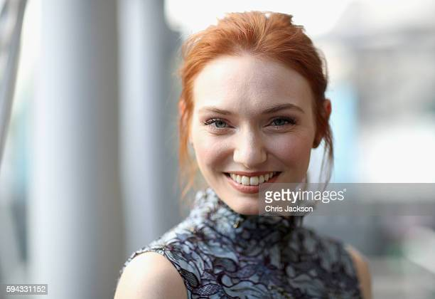 Actress Eleanor Tomlinson poses for a portrait at the Poldark Series 2 Preview Screening at the BFI on August 22 2016 in London England