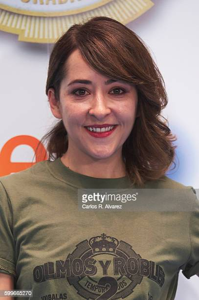 Actress Elena Alferez attends 'Olmos y Robles' photocall during FesTVal 2016 Day 2 Televison Festival on September 6 2016 in VitoriaGasteiz Spain