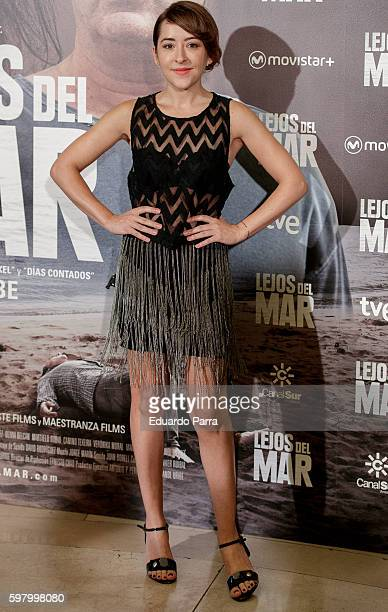 Actress Elena Alferez attends the 'Lejos del mar' premiere at Palafox cinema on August 30 2016 in Madrid Spain