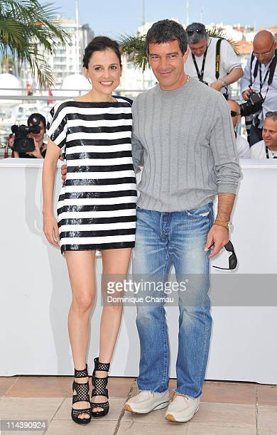 Actress Elena Anaya and actor Antonio Banderas attend The Skin I Live In Photocall during the 64th Cannes Film Festival at the Palais des Festivals...