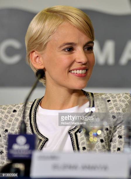 Actress Elena Anaya attends a press conference for her latest film Hierro at Sitges on October 2 2009 in Barcelona Spain