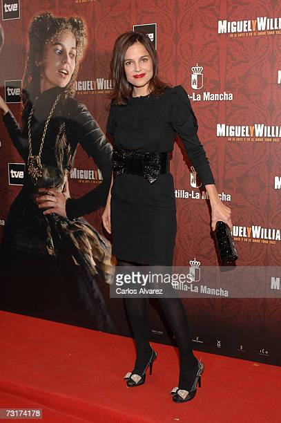 Actress Elena Anaya attends premiere of 'Miguel and William' on February 01 2007 at Palacio de la Musica in Madrid Spain