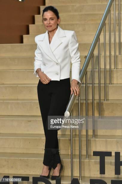 Actress Elena Anaya presents the filming of a new Woody Allen's movie in San Sebastián on July 09, 2019 in San Sebastián, Spain.