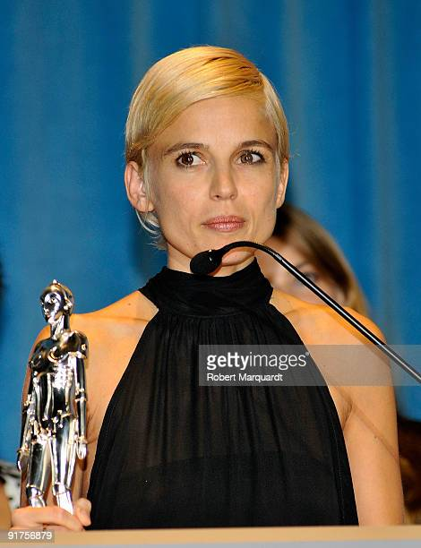 Actress Elena Anaya was given the Best Actress Award for the film 'Hierro' at the 42nd Sitges Film Festival on October 11 2009 in Barcelona Spain