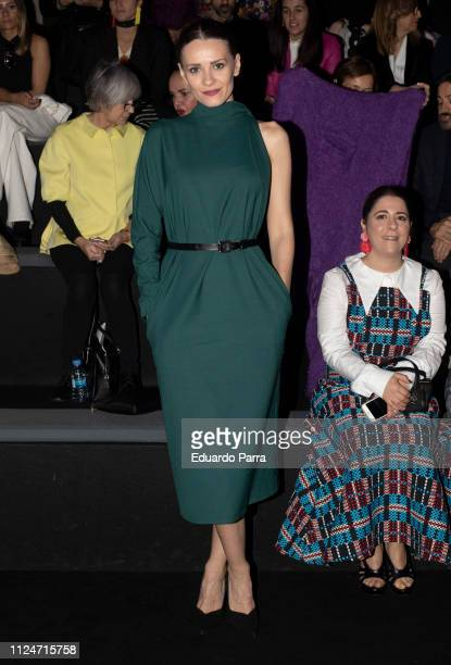 Actress Elena Ballesteros attends The 2nd Sking Co fashion show during the Mercedes Benz Fashion Week Autumn/Winter 20192020 at Ifema on January 25...