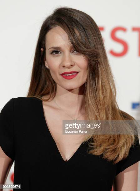 Actress Elena Ballesteros attends the 'C'Est La Vie' premiere at the Francoise Institut on January 23 2018 in Madrid Spain