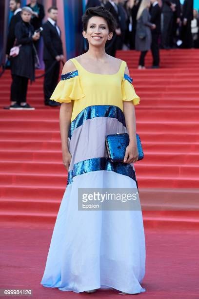 Actress Elena Borshcheva attends opening of the 39th Moscow International Film Festival outside the Karo 11 Oktyabr Cinema on June 22 2017 in Moscow...