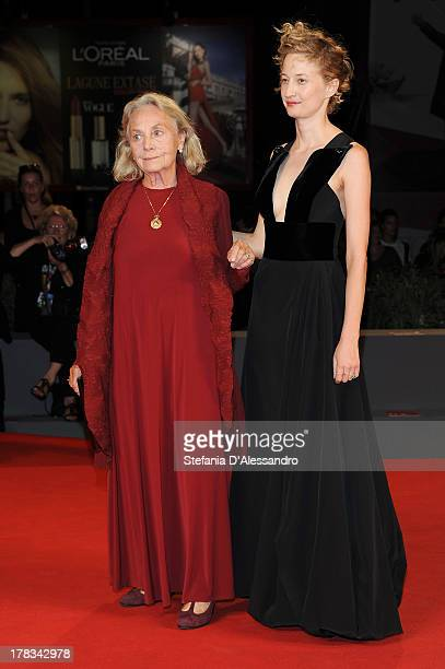 Actress Elena Cotta and actress Alba Rohrwacher attend 'Via Castellana Bandiera' Premiere during the 70th Venice International Film Festival at Sala...